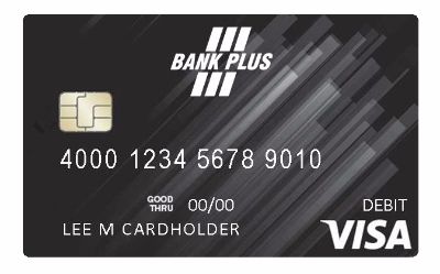 Image of Bank Plus Visa Debit Card