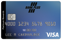 Bank Plus Visa Platinum Rewards Card